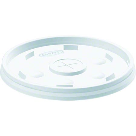 Dart® Translucent Straw Slotted Lid For 32, 44, 60 oz.