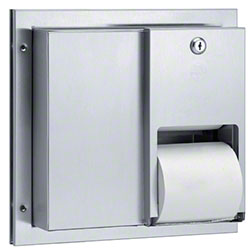 Bradley® 5422 Partition-Mounted Dual Roll Tissue Dispenser