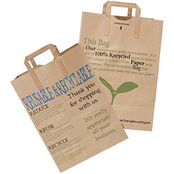 Duro 100% Recycled Paper Stock Handle Bag - 12 x 7 x 17
