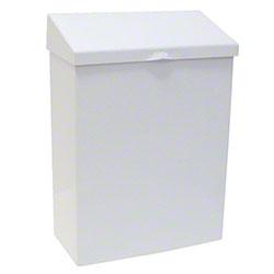 HOSPECO® Metal Waste Receptacle - White