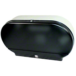 "Impact® Twin 9"" Jr. Jumbo Toilet Tissue Dispenser - Smoke"