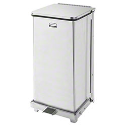 Rubbermaid® Quiet Step Can - 12 Gal., Stainless Steel