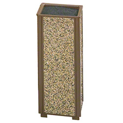 Rubbermaid® Aspen Urn - Brown w/Desert Brown Panels