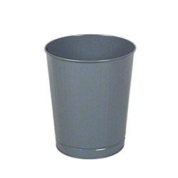 Rubbermaid® Open Top Round Steel Wastebasket - Gray