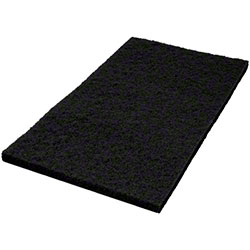 "Americo Black Stripping Floor Pad - 14"" x 28"""