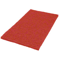 "Americo Red Buff Floor Pad - 12"" x 18"""