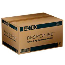 NPS® Response® 1-Ply Beverage Napkin - White