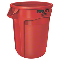 Rubbermaid® BRUTE® Round Container - 32 Gal., Red