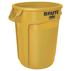 Rubbermaid® BRUTE® Round Container - 32 Gal, Yellow