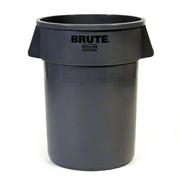 Rubbermaid® BRUTE® Round Container - 44 Gal., Gray