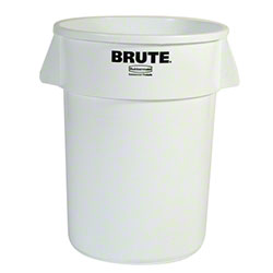 Rubbermaid® BRUTE® Round Container - 44 Gal., White