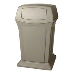 Rubbermaid® Ranger® Container - 45 Gal., w/Doors,Beige