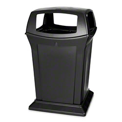 Rubbermaid® Ranger® 4 Openeing Container -45 Gal., Black