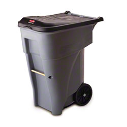 Rubbermaid® BRUTE® Rollout Container - 65 Gal., Gray