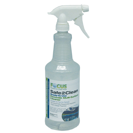 Focus Safe 2 Clean RTU Peroxide Multi-Surface Cleaner - Qt.