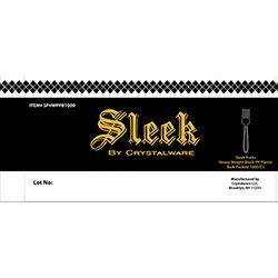 Crystal Ware Sleek Heavy Weight Black Cutlery - Fork