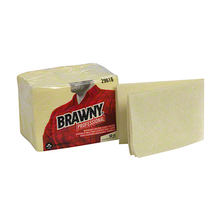 GP Brawny Industrial® 1/8 Fold Yellow Dusting Cloth