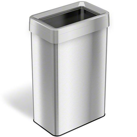 HLS Open Top Waste Receptacle - 21 Gal., Stainless Steel
