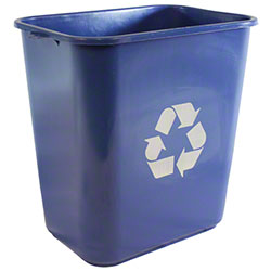 Impact® Rectangular Soft-Sided Wastebasket - 28 Qt., Blue