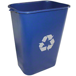 Impact® Rectangular Soft-Sided Wastebasket - 41 Qt., Blue