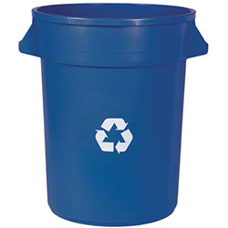 Impact® Advanced Gator™ Container -32 Gal.,Blue Recycle