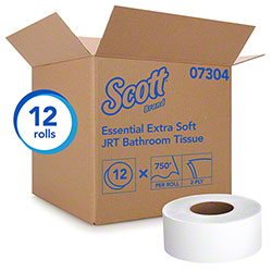 "Scott® Essential Extra Soft JRT Bath Tissue - 3.55""x750', White"