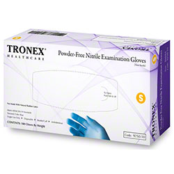 Tronex 9250 Nitrile Powder-Free Blue Exam Glove - Small