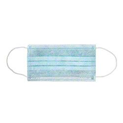 AmerCare® Non-Woven Face Mask w/Ear Loop - Blue