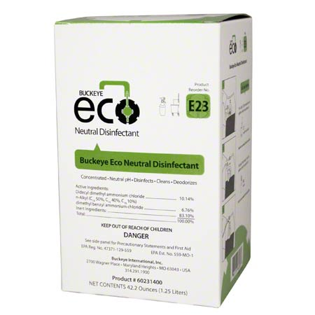 Buckeye® Eco® E23 Neutral Disinfectant - 1.25 L