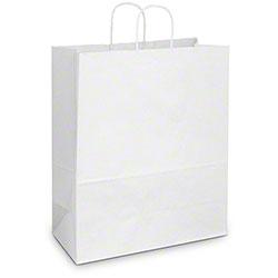 """Duro White Shopping Bag - 18"""" x 7"""" x 18 3/4"""", Cargo"""