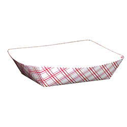 SQP Food Tray - #50 Red Plaid