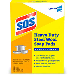 S.O.S.® Commercial Solutions® Steel Wool Soap Pad - 15 Ct. Box