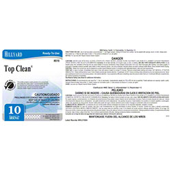 Hillyard #10 Top Clean® RTU Quart Label