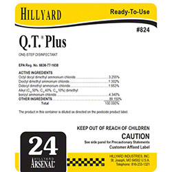 Hillyard #24 Arsenal® Q.T.® Plus Disinfectant Label