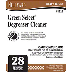 Hillyard #28 Arsenal® Green Select® Degreaser RTU Label