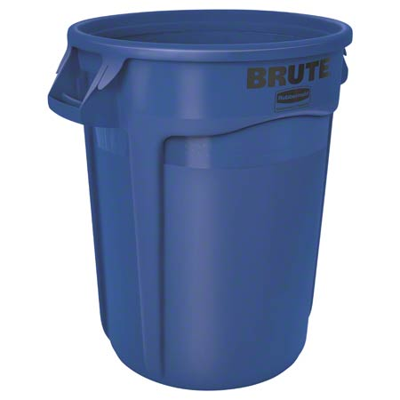 Rubbermaid® BRUTE® Round Container - 32 Gal., Blue