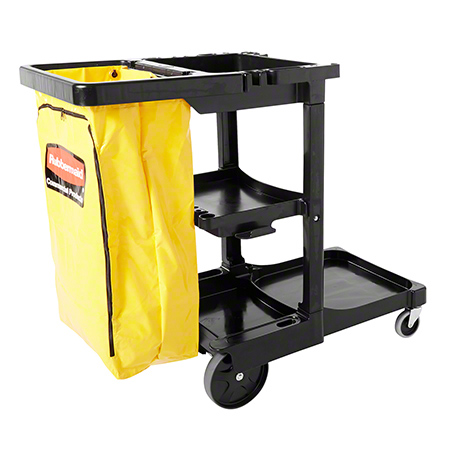 Rubbermaid® Cleaning Cart w/Zipper Yellow Vinyl Bag