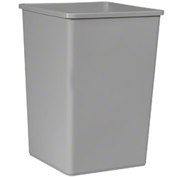Rubbermaid® Untouchable® Square Container-35 Gal., Gray