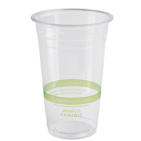 World Centric Ingeo™ Clear Cold Cup - 20 oz.