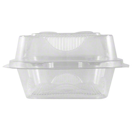 "World Centric Clear Take Out Container - 8"" x 8"" x 3"""