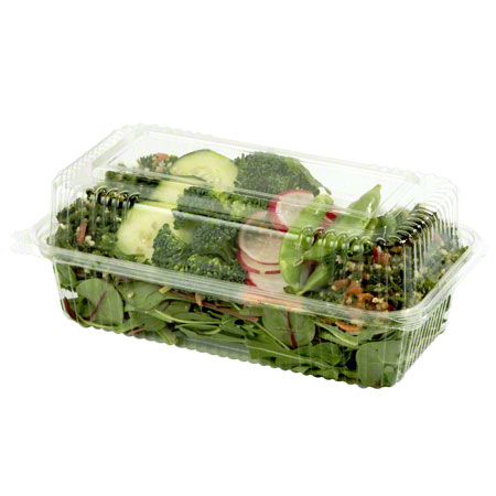"World Centric Clear Take Out Container - 9"" x 5"" x 3"""