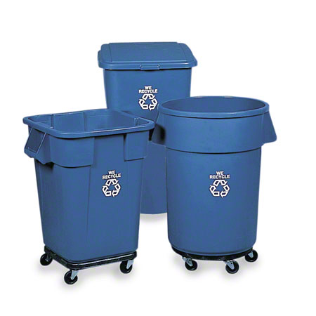Rubbermaid® Brute® Recycling Rollout Cart w/Lid - 50 Gal