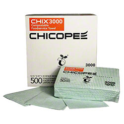 Chicopee® Chix® 3000 Compostable Towel - 12 3/8 x 21""