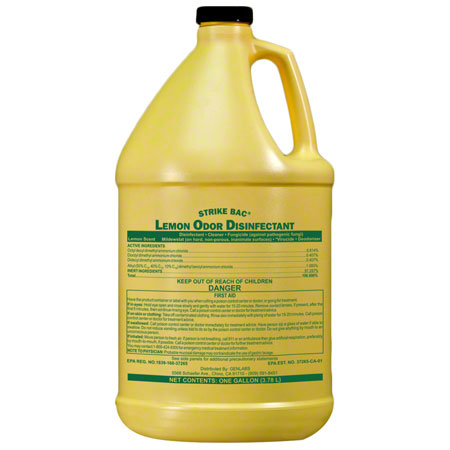 Genlabs Strike Bac Lemon Odor Disinfectant - Gal.