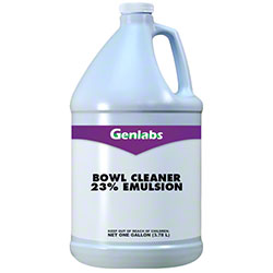 Genlabs Emulsion 23% Bowl Cleaner - Gal.
