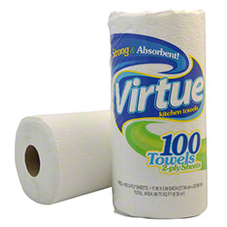 Virtue Household Roll Towel - 100 ct.