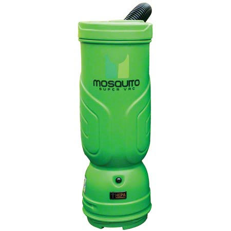 Mosquito Super HEPA Backpack Vac w/Sidewinder-10 Qt, Green