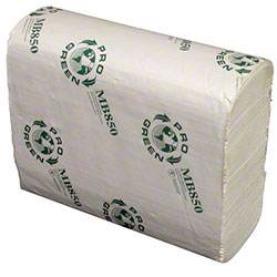 "Pro Green Bleach Multifold Towel - 9"" x 9.5"""
