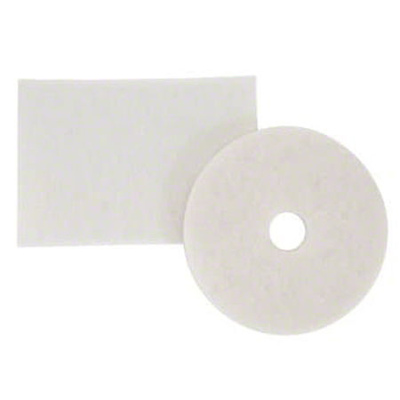 "CS 5 3M 08488 4100 24"" WHITE SUPER POLISH PADS (175-600"