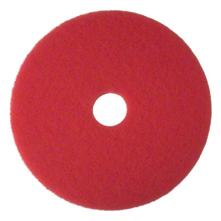 "CS 5 3M 08389 5100 14"" RED BUFFER PADS (175-600 RPM)"